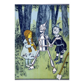 Wizard of Oz Dorothy Tin Woodsman Scarecrow Custom Invitations