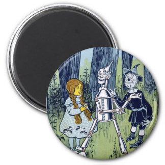 Wizard of Oz Dorothy Tin Woodsman Scarecrow Magnet