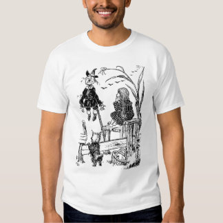 Wizard of Oz Dorothy Toto and the Scarecrow Tee Shirt