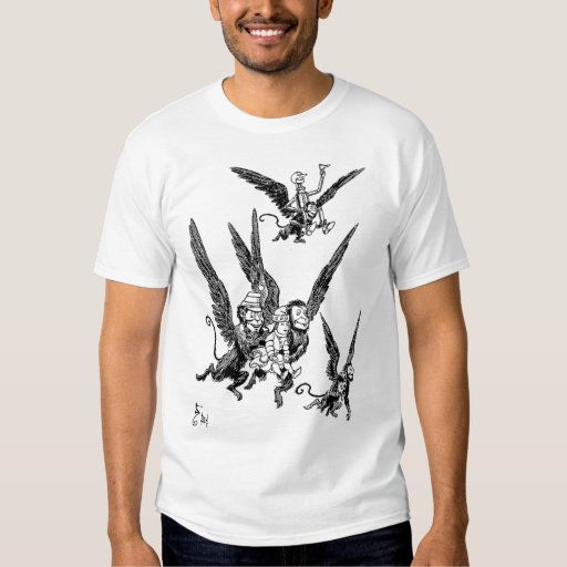 Wizard of oz flying monkeys shirt zazzle for Wizard t shirt printing