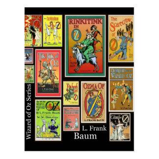 WIzard of Oz L Frank Baum Collage Postcards