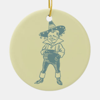 Wizard of Oz Munchkin Double-Sided Ceramic Round Christmas Ornament