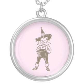 Wizard of Oz Munchkin Silver Plated Necklace