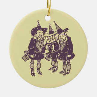 Wizard of Oz Munchkins Ceramic Ornament