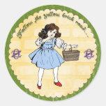 Wizard of Oz Party Dorothy Sticker