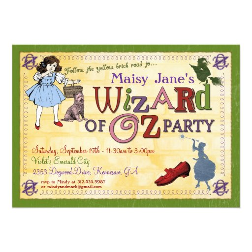 Wizard Of Oz Birthday Invitations is one of our best ideas you might choose for invitation design
