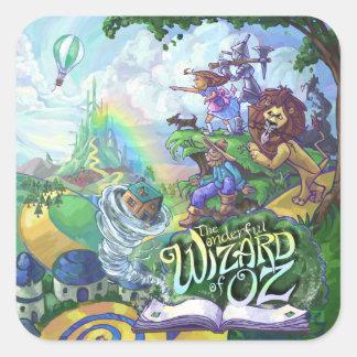 Wizard of Oz Square Sticker