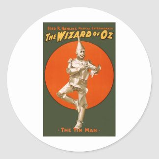 Wizard Of Oz Tin Man Classic Round Sticker