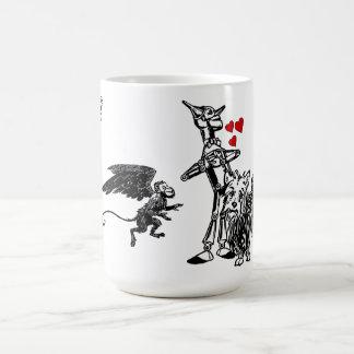Wizard of Oz Tin Man Monkey Toto Scarecrow Lion Coffee Mug