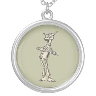 Wizard of Oz Tin Man Round Pendant Necklace