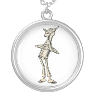 Wizard of Oz Tin Man Silver Plated Necklace