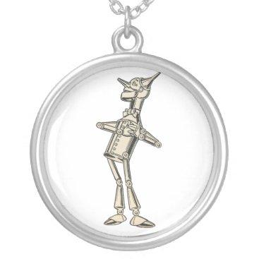 DulceDahlia Wizard of Oz Tin Man Silver Plated Necklace