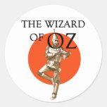 Wizard of Oz Tin Man Strickers Classic Round Sticker