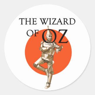 Wizard of Oz Tin Man Strickers Round Sticker