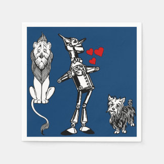 Wizard of Oz, Tin Man, Toto, Cowardly lion party Paper Napkin