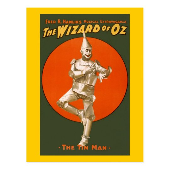 Wizard Of Oz Tin Man - Vintage Musical Theater Postcard
