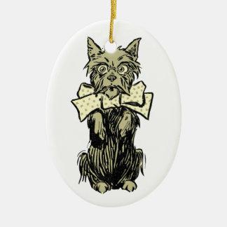 Wizard of Oz Toto Ceramic Ornament