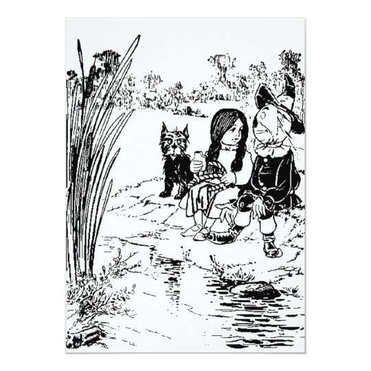 Wizard of Oz Toto, Dorothy and Scarecrow Card