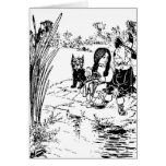 Wizard of Oz Toto, Dorothy and Scarecrow Greeting Card