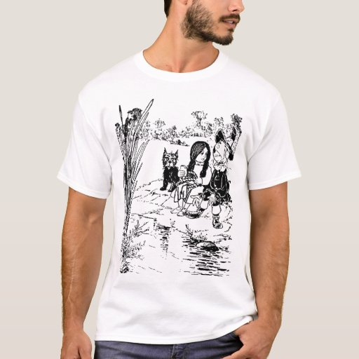Wizard of oz toto dorothy and scarecrow t shirt zazzle for Wizard t shirt printing