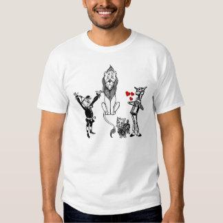 Wizard of Oz: Toto Tin Man Cowardly Lion Scarecrow Shirt