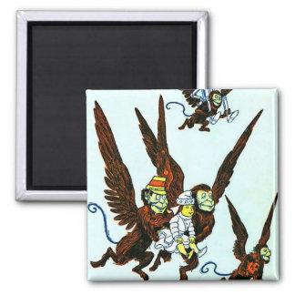 Wizard of Oz Winged monkeys flying monkeys 2 Inch Square Magnet