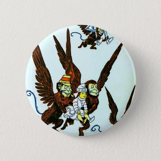 Wizard of Oz Winged monkeys flying monkeys Pinback Button
