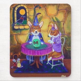 Wizard of Pem Mousepad, Pembroke Welsh Corgi Mouse Pad