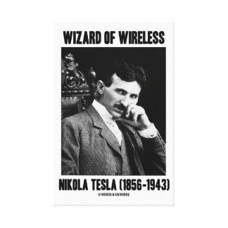 Wizard Of Wireless Nikola Tesla (1856-1943) Stretched Canvas Print