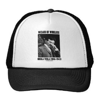 Wizard Of Wireless Nikola Tesla Mesh Hats