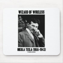 Wizard Of Wireless Nikola Tesla Mouse Pad