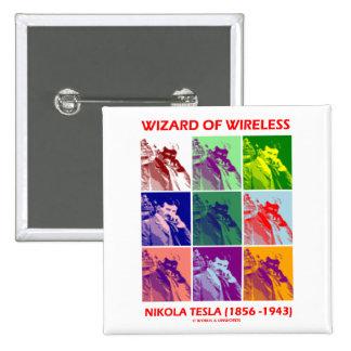Wizard Of Wireless (Nikola Tesla Nine Pictures) Pinback Button