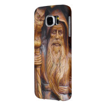 Wizard or Warlock With Staff and Owl Samsung Galaxy S6 Case