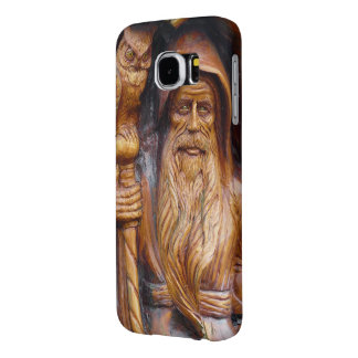 Wizard or Warlock With Staff and Owl Samsung Galaxy S6 Cases