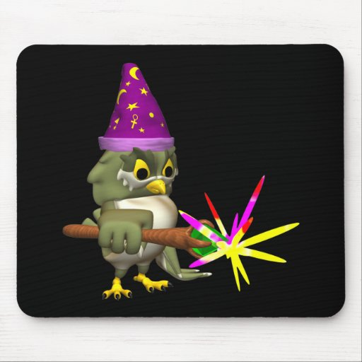 Wizard Owl Mouse Pad
