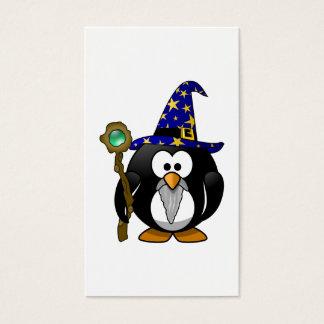 Wizard Penguin Cartoon Business Card