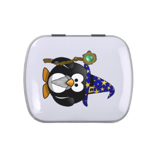 Wizard Penguin Cartoon Jelly Belly Candy Tins