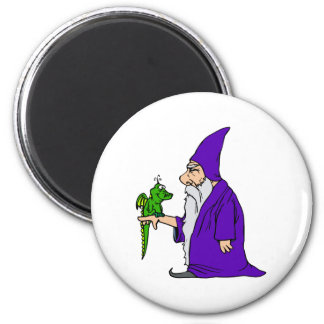 Wizard & Pet Dragon Magnet