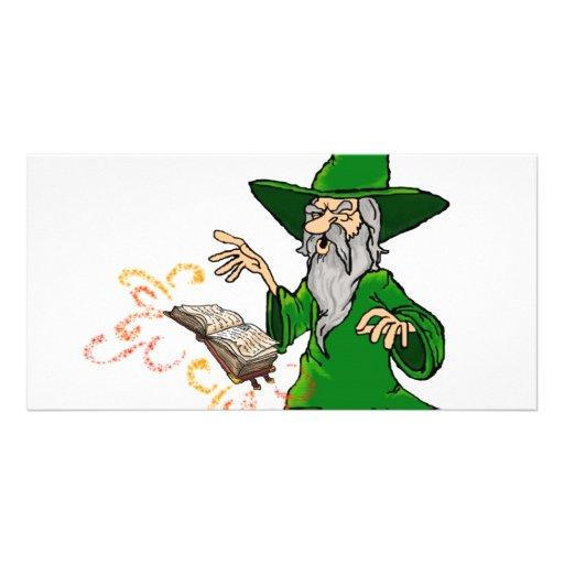 wizard photo card