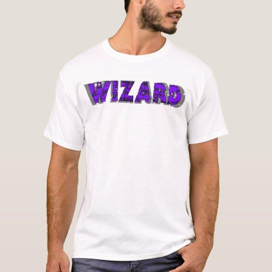 Wizard - Purple lettering T-Shirt