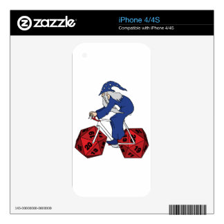Wizard Riding Bike With 20 Sided Dice Wheels iPhone 4 Decals