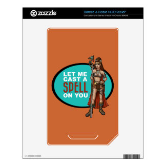 Wizard Shaman Spell Caster NOOK Color Decals