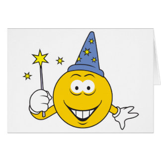 Wizard  Smiley Face Card