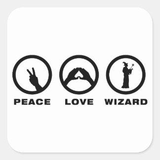 Wizard Square Sticker