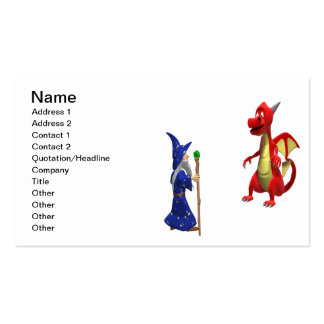 Wizard Vs Dragon Double-Sided Standard Business Cards (Pack Of 100)