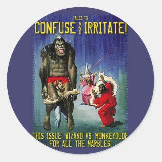 Wizard vs Monkeydude! Classic Round Sticker