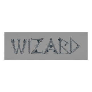 Wizard Weapon Collage Poster
