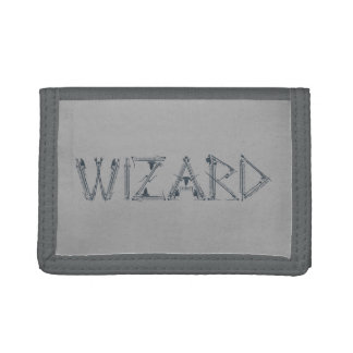 Wizard Weapon Collage Tri-fold Wallets