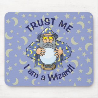 Wizard with Ball Old wizard with blue cape looking Mouse Pad