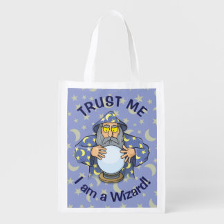 Wizard with Ball Reusable Grocery Bag